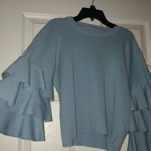 Endless Rose 3 Layered Long Sleeve Blue Sweater